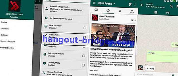 BBM Mod WhatsApp: Tukar Paparan BBM Android menjadi Seperti WhatsApp