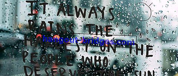 50+ Aphorisme Mengenai Hujan Puitis dan Bererti