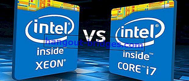 Perbezaan Intel Core i7 Processor dan Intel Xeon