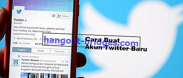 Cara Membuat Akaun Twitter Baru di Telefon Android