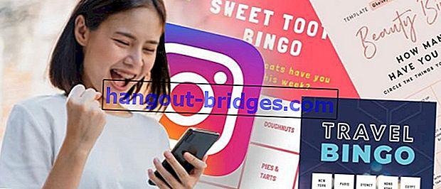 Cara membuat Templat Cabaran & Cerita Bingo Instagram anda!